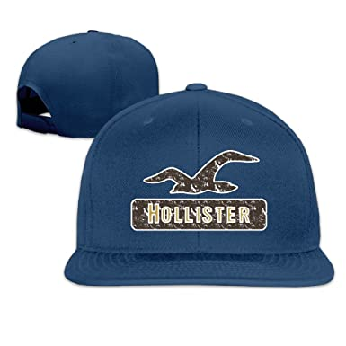 090a32930240a Amazon.com  Hollister Retro Logo Flat Snapback Hat Cap Men Women ( 8 ...