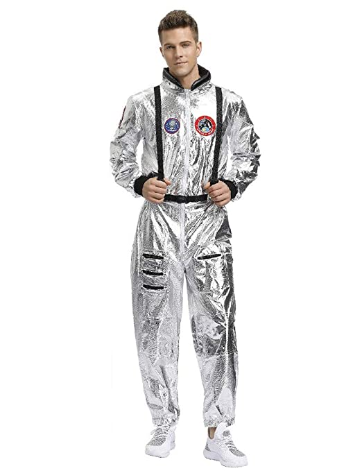 MORDYL Dress up Atractivo Traje Espacial de Astronauta Plata ...