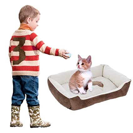 Amazon.com : Letdown 27.6x20.5 Pet Bed Dog and Cat Sofa ...
