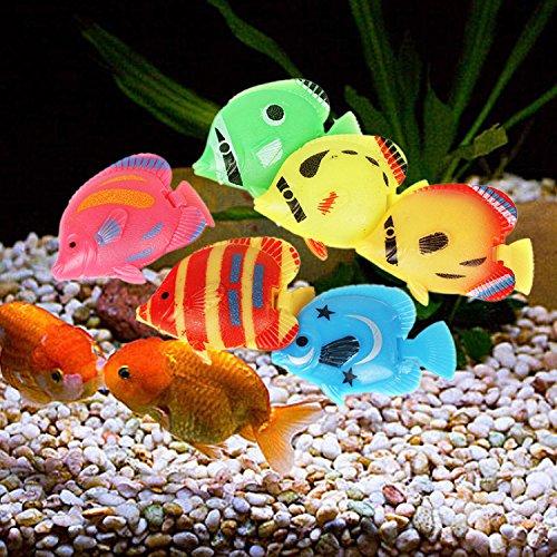 Legendog 20PCS Plastic Fish Aquarium Decor Creative Floating Simulated Fish Aquarium Ornament Fish Tank Animal by Legendog (Image #8)