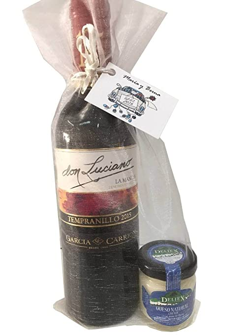 Detalle para comuniones con vino miniatura Don Luciano Tempranillo y una crema de queso de oveja