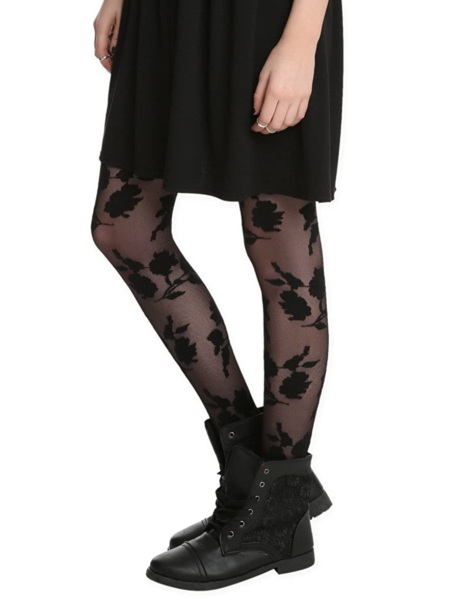 Black Roses Tights Hot Topic 10053285