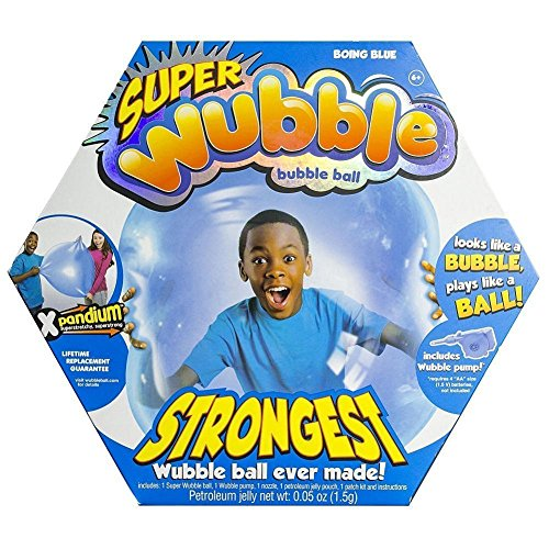 618TDmorKbL - WUBBLE The Amazing Tear-Resistant Super Bubble Ball with Pump - Boing Blue