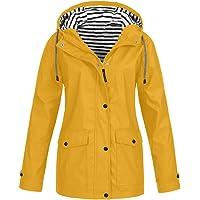 Chaqueta con Capucha Deportiva para Mujer Abrigo Impermeable con Capucha para Mujer Talla Grande Resistente al Viento…