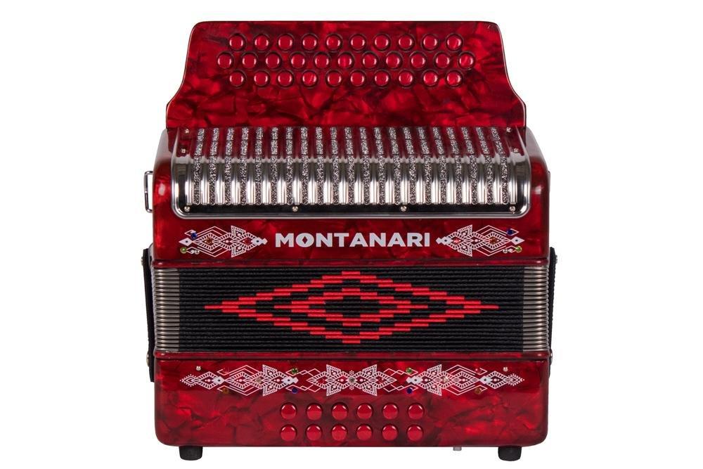 Montanari 3112 G Acordeon FA Rojo Accordion FBE