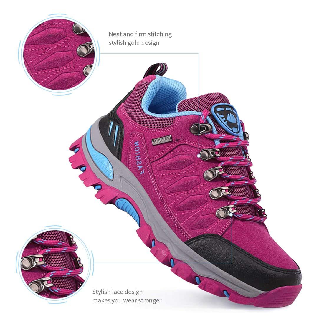 LSGEGO Unisex Wanderschuhe Outdoor Wanderschuhe Casual Reisen Wandern Klettern Stiefel Unisex Atmungsaktive wasserdichte Paare Schuhe