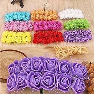 CANAFA-Home & Kitchen Artificial Flowers 12 pc/lot Simulation Mini Artificial Flower Foam Flower Ball DIY Decoration 35