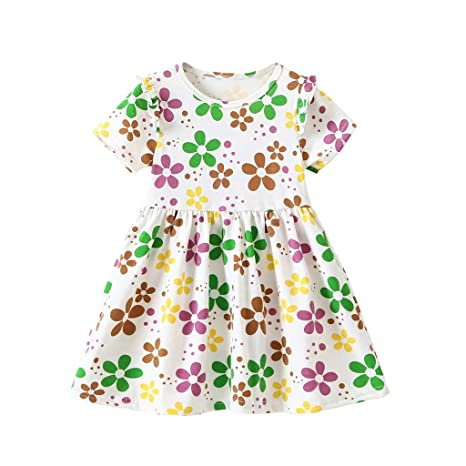 4536deeb0 Image Unavailable. Image not available for. Color: Kariwell Baby Girls  Floral Dresses, Kids ...