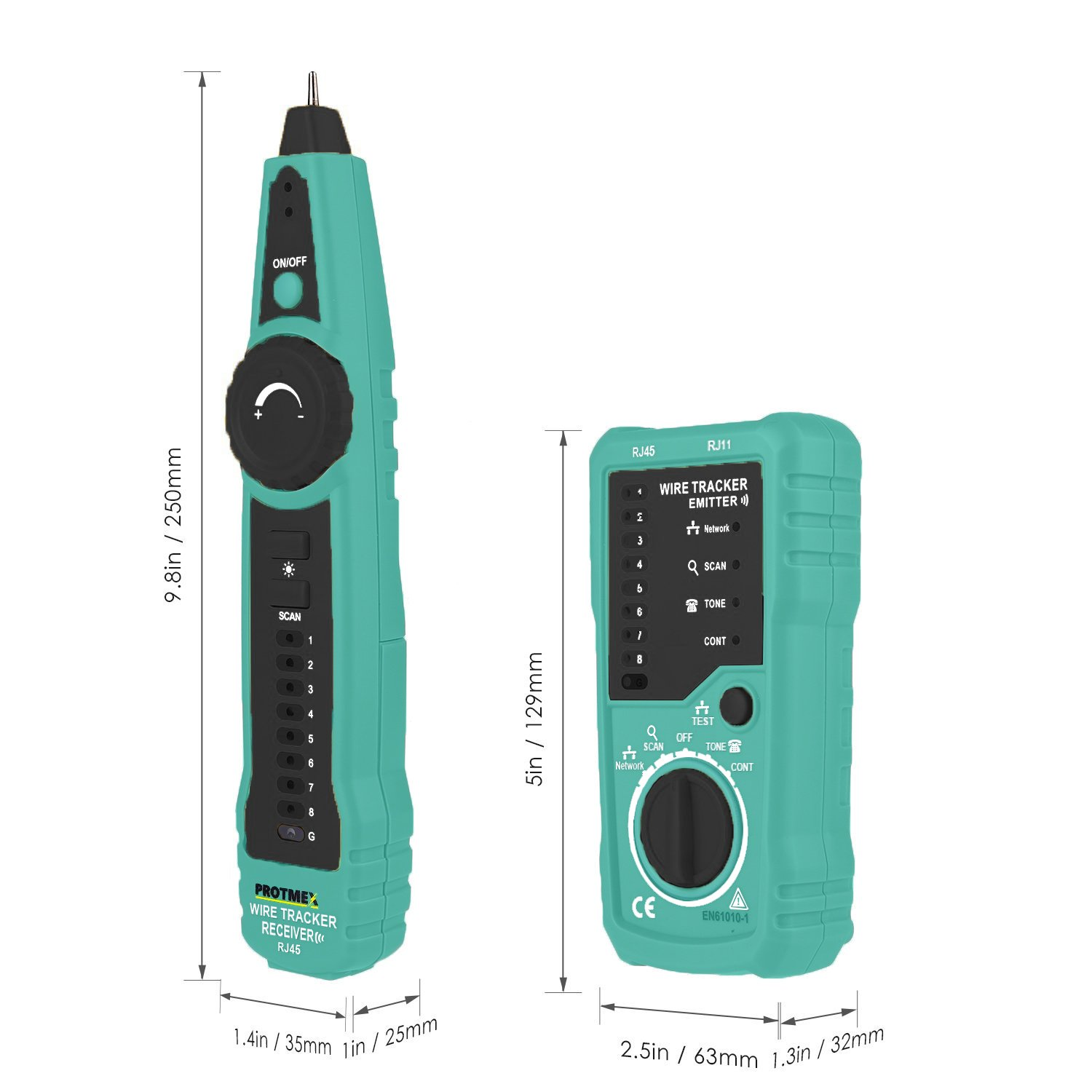 Wire Tracker, Protmex FY869 RJ11 RJ45 Cable Tester Multifunction ...
