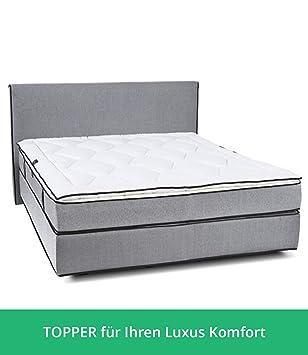 Colchón Topper para camas box-spring I con Airtec de fibra y lana de oveja, ...