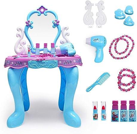 Kuingbhn Conjunto de Juguetes de tocador Juego de casa for niña Juego de Mesa de Princesa