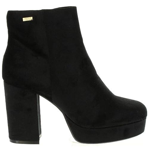 96434ee48cd MTNG Mustang, 51190 C38392, Botin Negro de Mujer: Amazon.es: Zapatos y  complementos