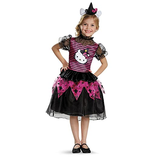625ada3ee Amazon.com: Disguise - Girl's Hello Kitty Witch Classic Costume 7-8: Toys &  Games