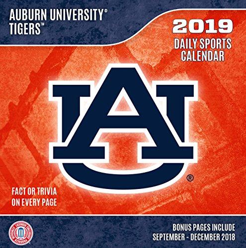 Turner 1 Sport Auburn Tigers 2019 Box Calendar Desk Calendar (19998051372)
