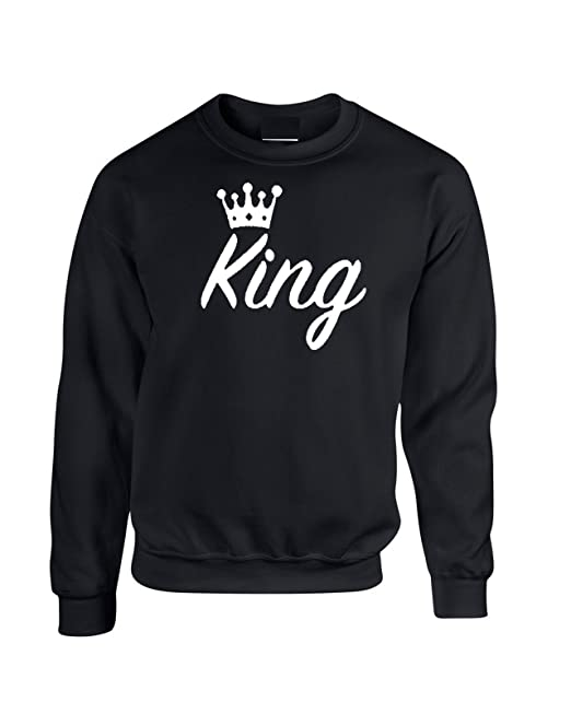 King Queen Crown - Sudadera con Capucha Negro Black King X-Small