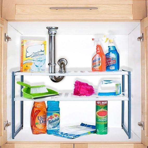 Stalwart Adjustable Under Sink Shelf Organizer Unit at amazon