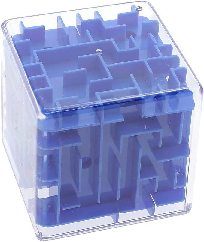 VANKER Mágico Laberinto 3D Cubo mágico Laberinto Juquetes Juego de Puzzle para los Hijos Adultos - Azul: Amazon.es: Bebé