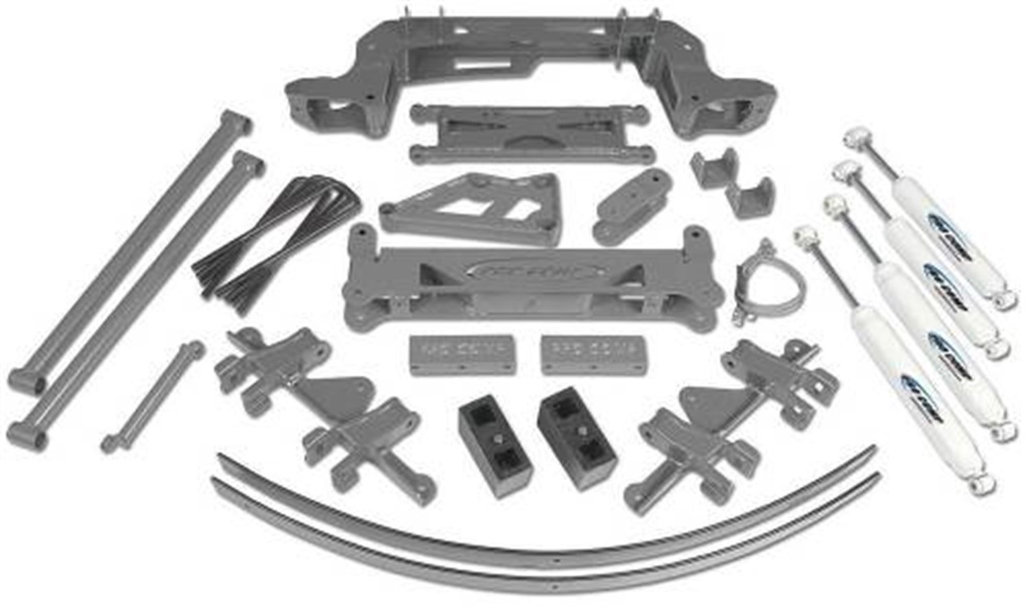 Block and ES3000 Shocks for GM 1500 4WD SUV 88-97 Pro Comp K1048B 6 Lift Kit with Bracket