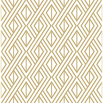 marquis diamond geometric wallpaper gold amp white