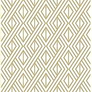 Marquis Diamond Geometric Wallpaper (Gold & White)