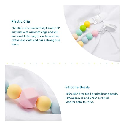 Amazon.com: UNCLEWU - Pinza de silicona para chupete, diseño ...