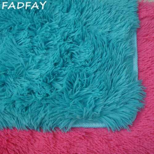 Fadfay Super Soft Modern Shaggy Area Rugs Turquoise Rug