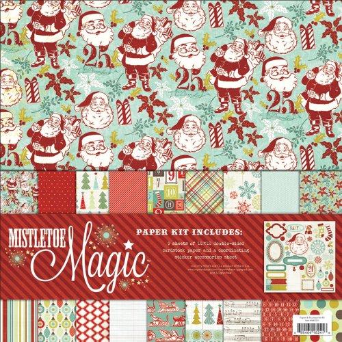 Mistletoe Magic Paper & Accessories Kit 12