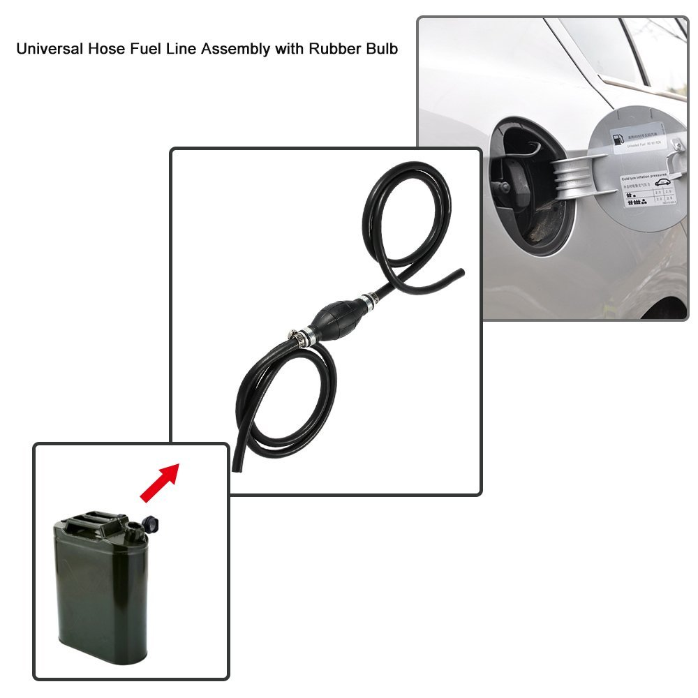 KKmoon Universal 6 mm Schlauch Kraftstoffpumpe Line Assembly au/ßenliegende Primer Bulb f/ür Auto Marine Boot