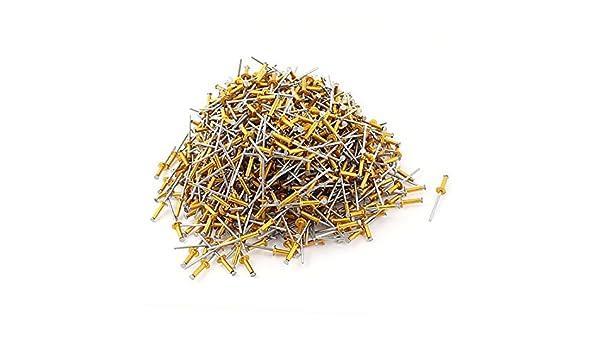 1000pcs 1/8 x 1/2 tono de aleación de aluminio Ciego del remache pop cúpula del cabezal de Oro: Amazon.com: Industrial & Scientific