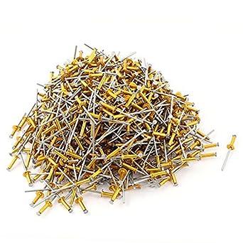 1000pcs 1/8 x 1/2 tono de aleación de aluminio Ciego del remache