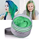 Hair Color Wax, Unisex Disposable Green Hair Dye, Hairstyle Coloring Cream for Party, Cosplay, Halloween, Masquerade…