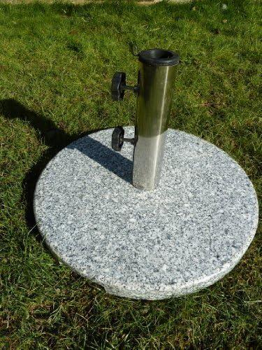 Base para sombrilla de jardín paraguas - 15 kg redondo granito ...