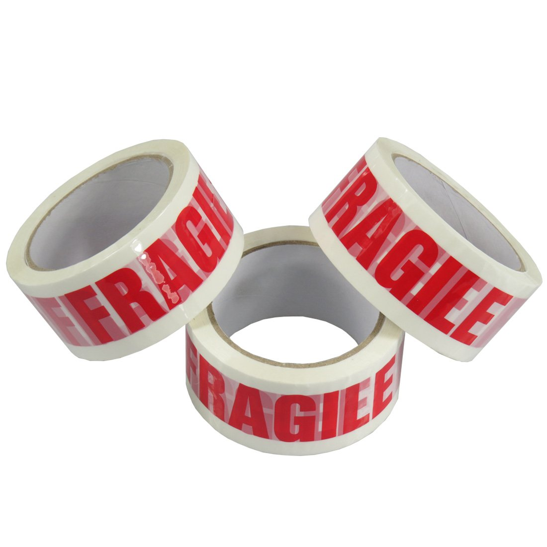 Triplast 48 mm x 66 m Fragile Printed Low Noise Parcel Packing Tape Pack of 2