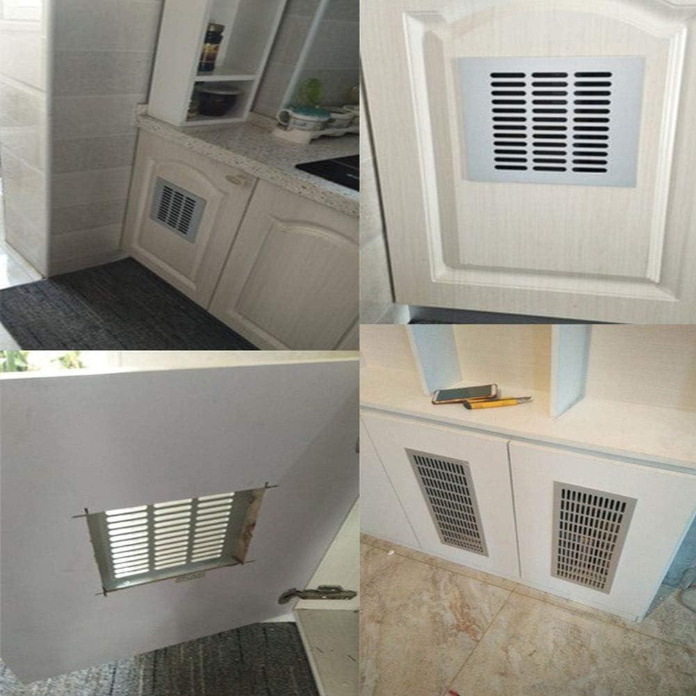 150 x 300 mm encimera de ba/ño Zosenda Rejilla de ventilaci/ón de metal zapato cubierta de ventilaci/ón de calor cocina rejilla de ventilaci/ón para armario lavabo