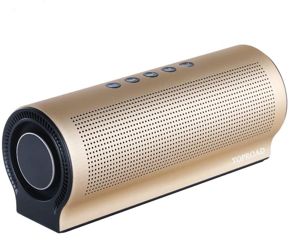 IN THE DISTANCE Altavoz inalámbrico Bluetooth Sorprendente Bajo Sonido caixa de som Columna Multimedia Altavoces Compatible con línea TF AUX en Manos Libres (Color : Gold): Amazon.es: Electrónica
