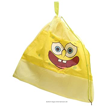 Spongebob Swimming Bag Kids Sports School Swim Drawstring Shoe PE Dance Backpack