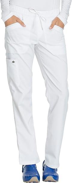 Dickies Essence Mid Rise Straight Drawstring Pant DK106 White FREE SHIPPING