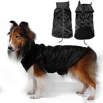 Hund Weste Fleece Jacke Regenmantel Waterproof Gefuettert W9IED2HY