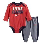 Nike Baby Boy Bodysuit & Pants 2 Piece Set, 0-3 Months