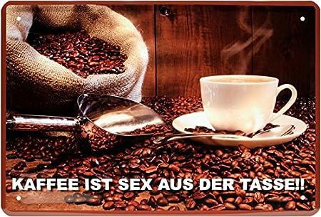 Café es Sex de la Taza Coffee Beans Cartel de Chapa 20 x 30 ...