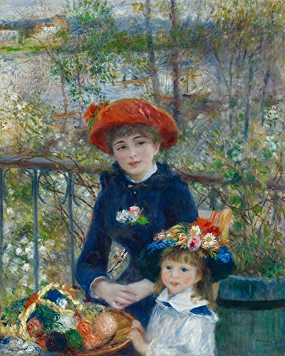 (Two Sisters (Artist: Auguste Renoir) c. 1881 - Masterpiece Classic (9x12 Art Print, Wall Decor Travel Poster))
