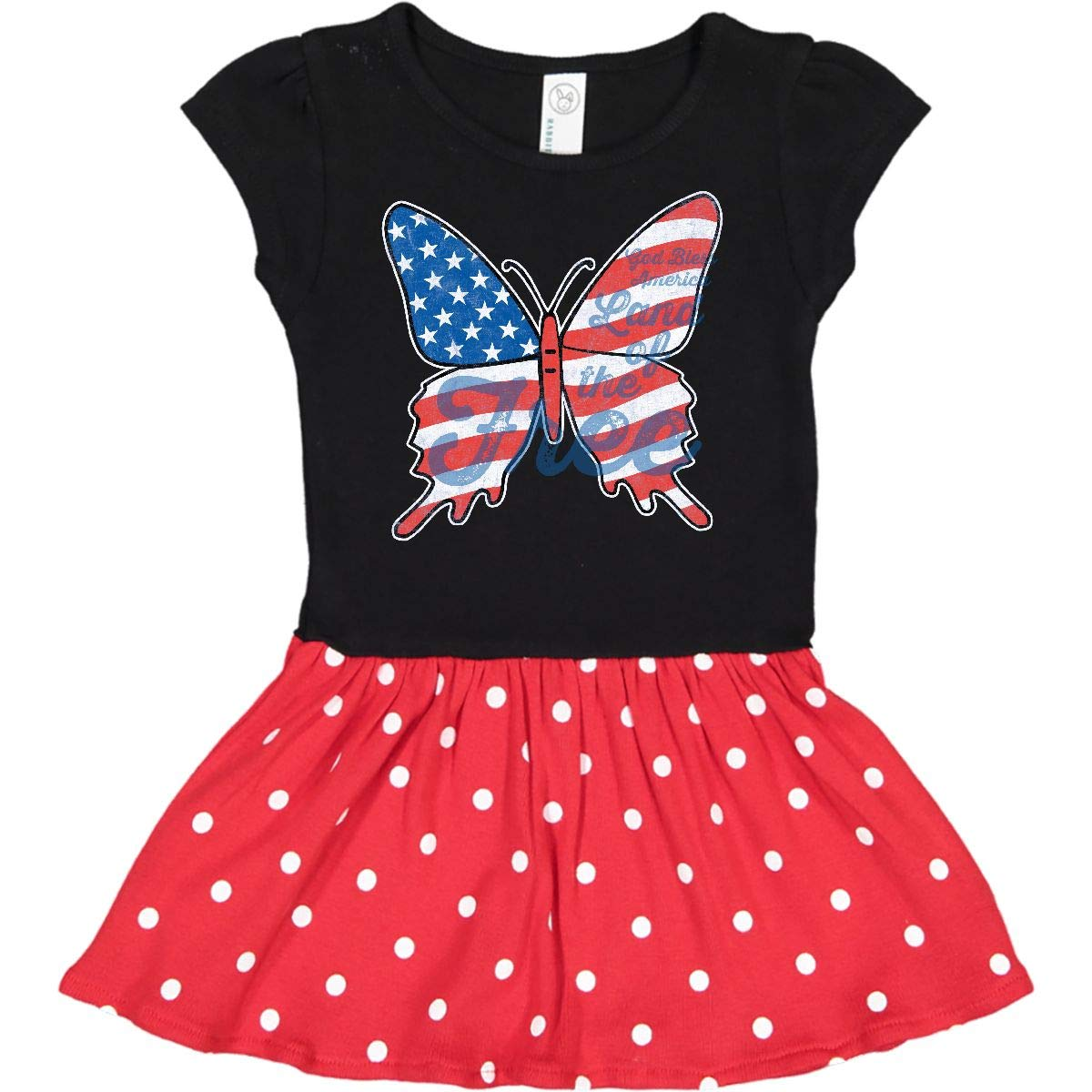 Patriotic Butterfly Toddler T-Shirt 22fd2 inktastic
