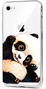 HUIYCUU Case Compatible with iPhone 6 for iPhone 6S Case, Cute Animal Design Slim Fit Soft TPU Protective Cover Funny Pattern Thin Clear Skin Novelty Bumper Back Case for iPhone 6 6S,Painted Panda