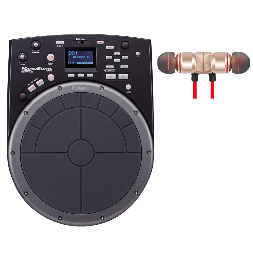 Roland HandSonic HPD-20 Digital Hand Percussion Includes Free Wireless Earbuds - Stereo Bluetooth In-ear Earphones