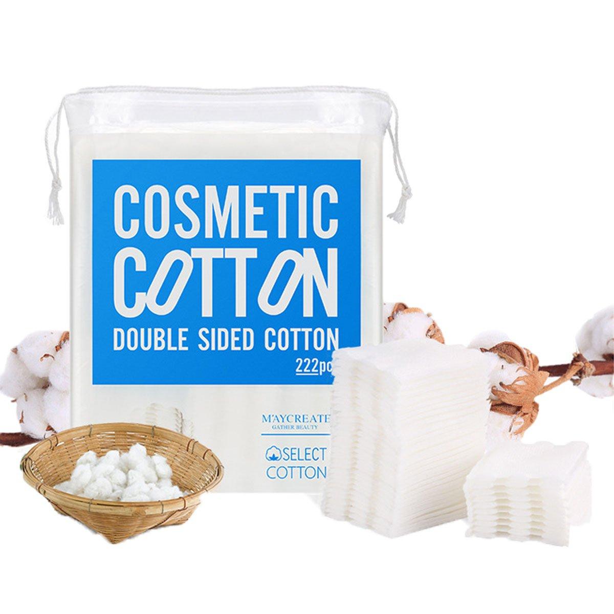 Cotton Pad, LinLang Tris di Pastiglie per Trucco a Tre Strati in Cotone (Confezione da 222) BH020