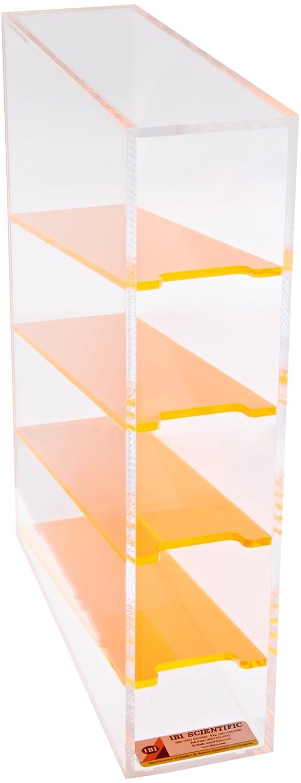 IBI Scientific PR-40 Acrylic 4 Compartment Serological Pipette Rack, 3-3/4' Width x 16-1/4' Height x 11-3/4' Depth 3-3/4 Width x 16-1/4 Height x 11-3/4 Depth Thomas Scientific
