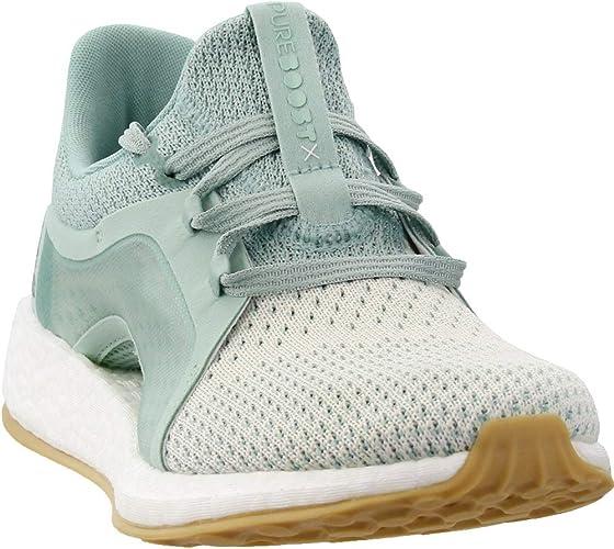 adidas Pureboost X Clima - Zapatillas para correr para mujer, Verde (Color verde ceniza, plateado y blanco.), 42 EU: Amazon.es: Zapatos y complementos