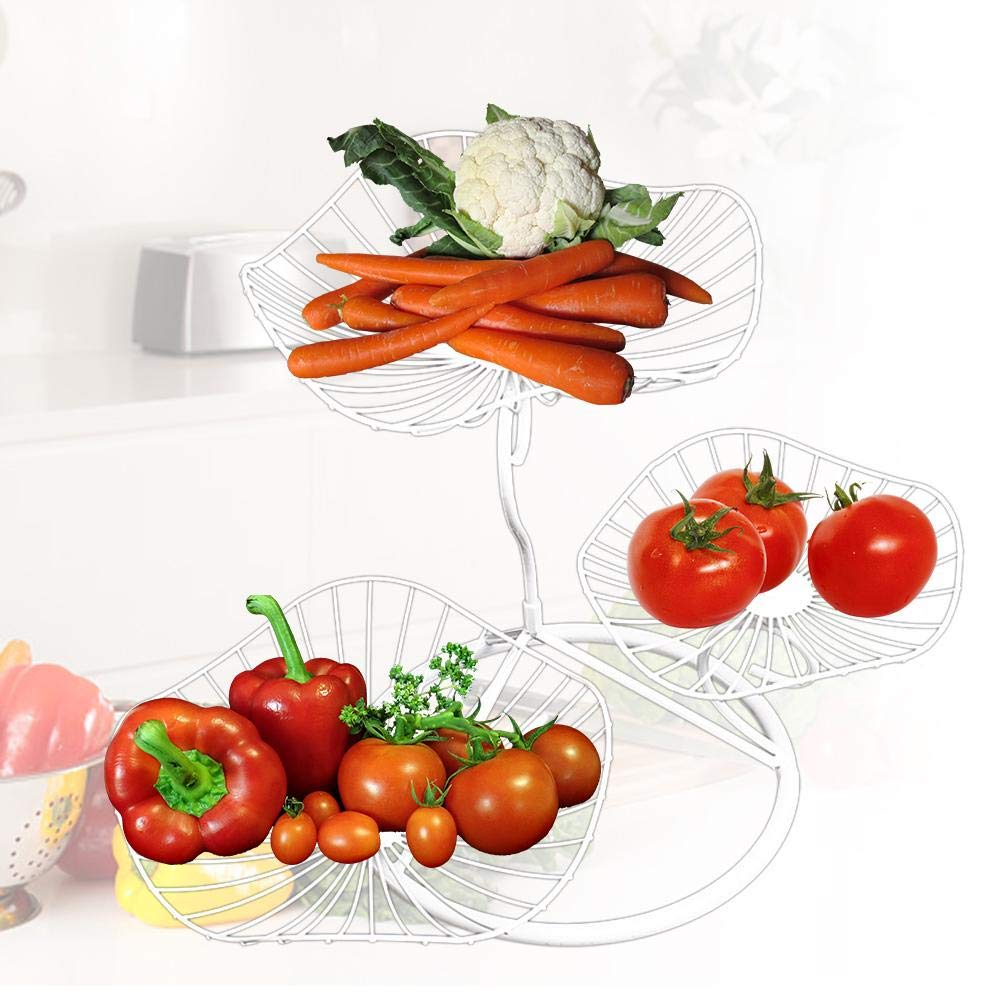 3-Tier Countertop Fruit Basket Holder Home Decorative Vegetable Baskets Tabletop Snacks Stand for Living Room Household Items