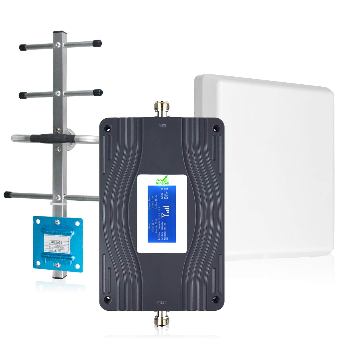 Verizon AT&T T-Mobile Cell Phone Signal Booster 4G LTE Dual Band 700MHz Band 13/12/17 Mobile Signal Repeater Cell Phone Amplifier Signal Booster Verizon AT&T for Home Mingcoll (SDB70-NXL)