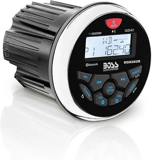 Amazon.com: BOSS Audio Systems MGR350B Marine Gauge Receiver - Bluetooth,  Digital Media MP3 Player, no CD Player, USB Port, AM FM Radio,  Weatherproof, black, small/medium: Car ElectronicsAmazon.com